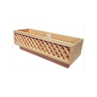 Bar Harbor Cedar Cedar Deck Box Rail Planter