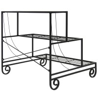 Best Choice Products 3 Tier Metal Plant Stand Decorative Planter Holder Flower Pot Shelf Rack - Black